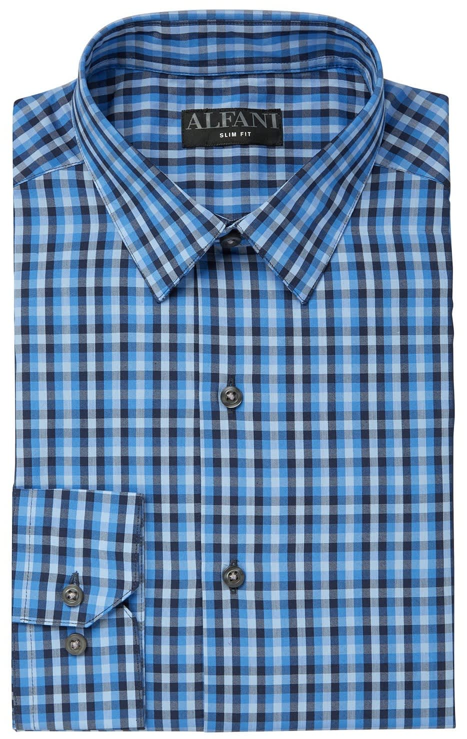 Alfani Men's AlfaTech Gingham Dress Shirt