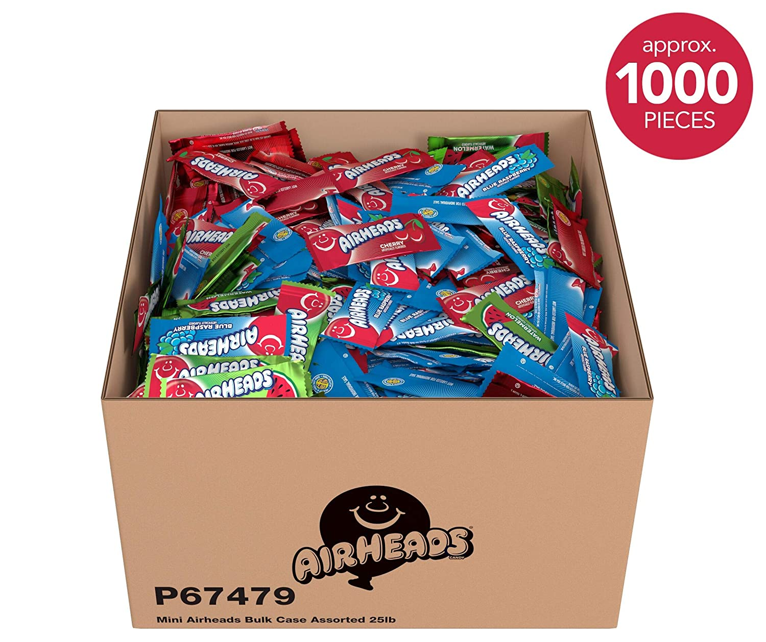 25-Lbs Airheads Candy Mini Bars Bulk Box (Assorted Flavors)