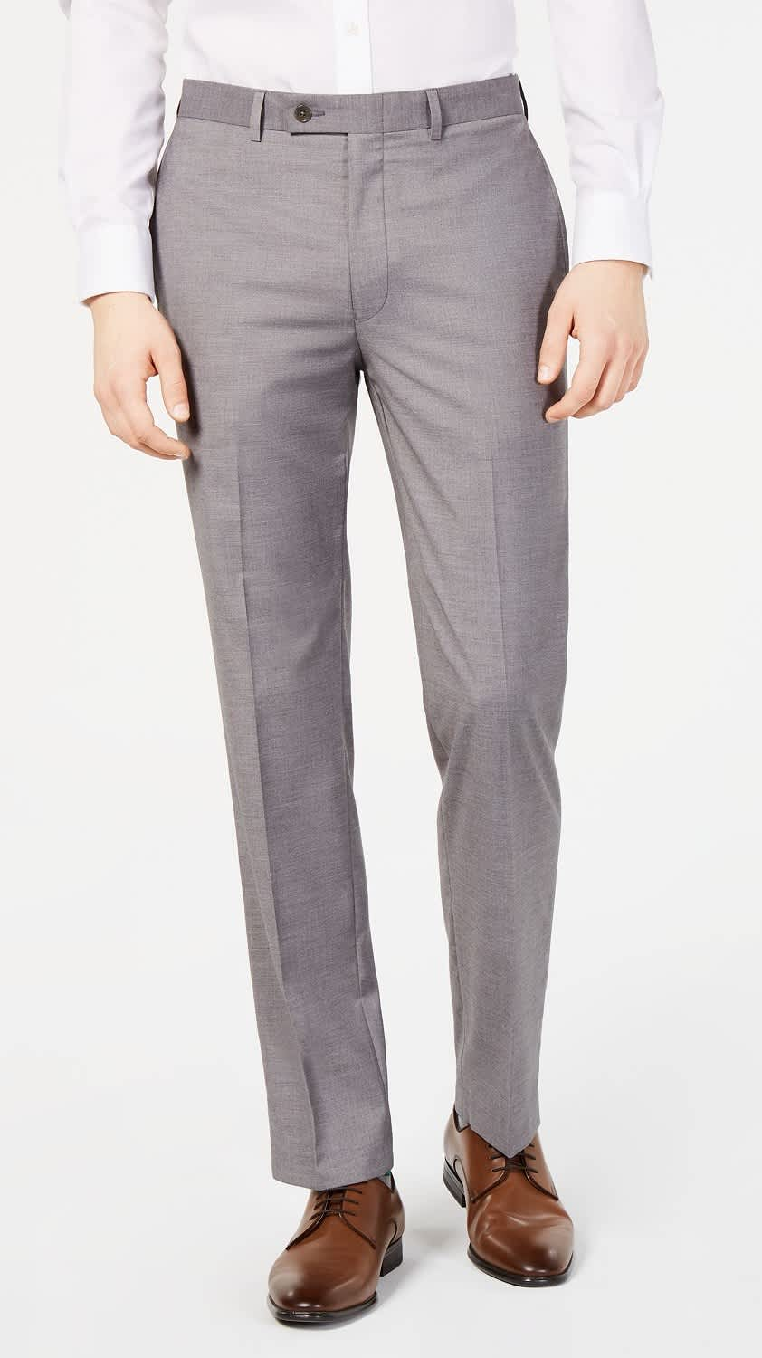 Calvin Klein Men's Slim-Fit Wrinkle-Resistant Dress Pants