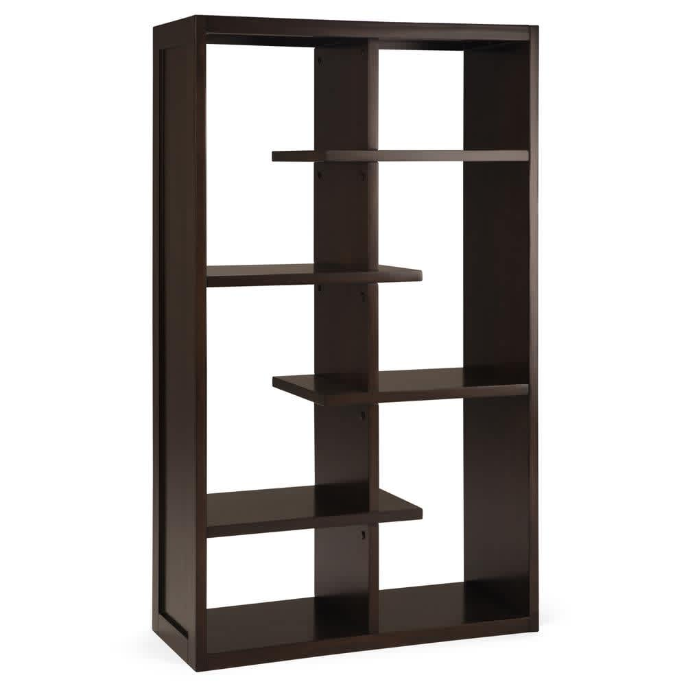 "Simpli Home Camden 60"" 4-Shelf Solid Wood Accent Bookcase"