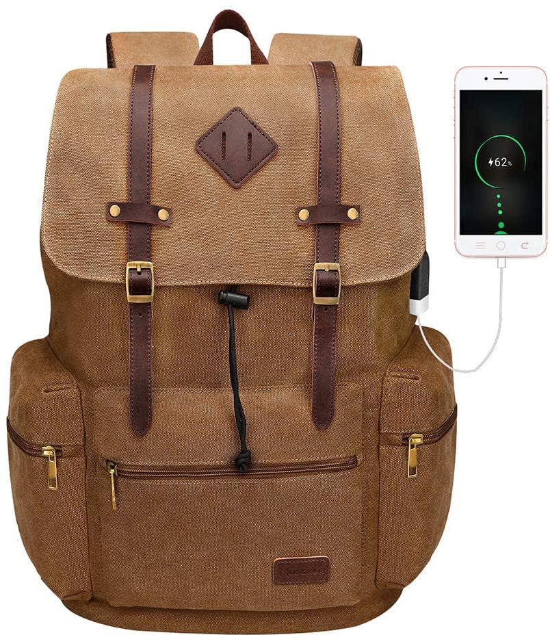 "Modoker 16"" Laptop Canvas Backpack"