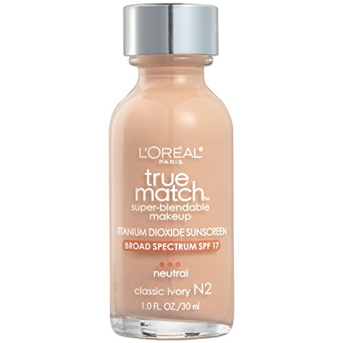 L'Oreal Paris Makeup True Match Super-Blendable Liquid Foundation, Classic Ivory N2, 1 Fl Oz,1 Count