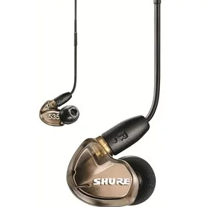 Shure SE535 Wired Sound Isolating Earbuds, High Definition Sound + Natural Bass, Three Drivers, Secure In-Ear Fit