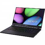 """GIGABYTE AERO 17 17.3"""" 144Hz FHD Laptop (i7-10750H, RTX 2080 SUPER, 32GB, 512GB SSD, YB-7US1430SH)"""