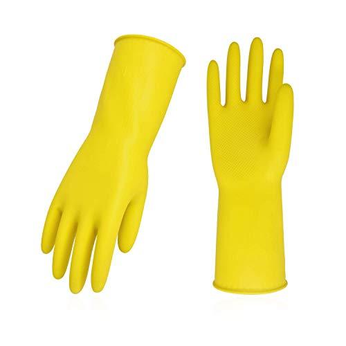 Vgo 强韧耐用橡胶手套,可重复使用,10