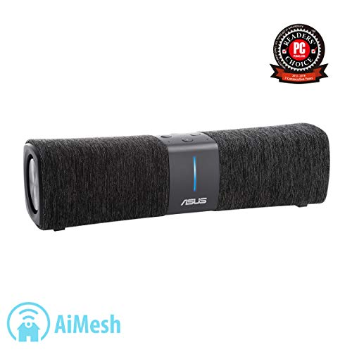 ASUS Lyra Voice All-In-One Smart Voice Home Mesh WiFi Tri-Band Router (AC2200), Amazon Alexa Built-In, Lifetime Aiprotection Security  Bluetooth, Build-In Speakers