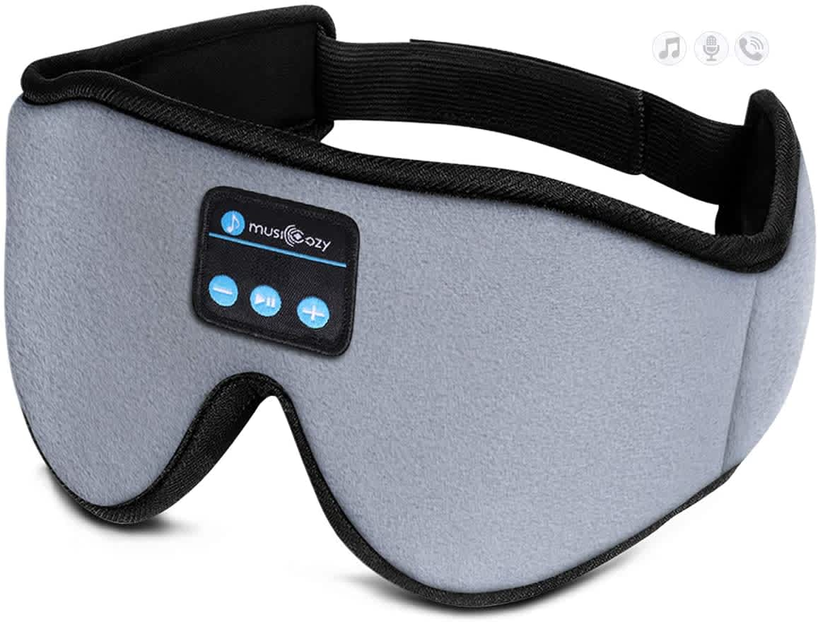 Musicozy Bluetooth Sleep Mask with Headphones