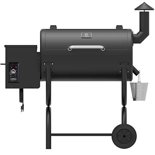 Z GRILLS ZPG-550B 2020 Upgrade Wood Pellet Grill & Smoker, 6 in 1 BBQ Grill Auto Temperature