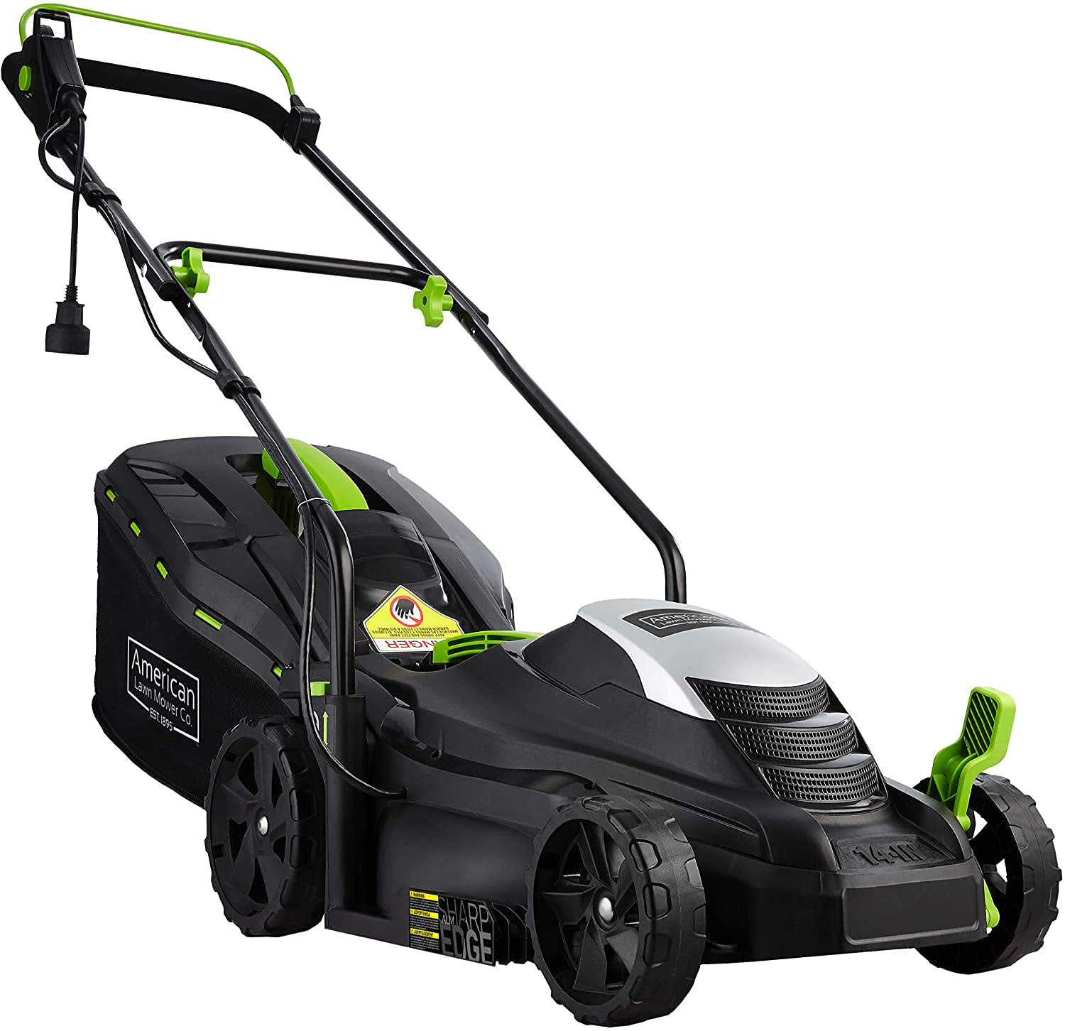 """American Lawn Mower Co 14"""" 11A Corded Electric Lawn Mower"""
