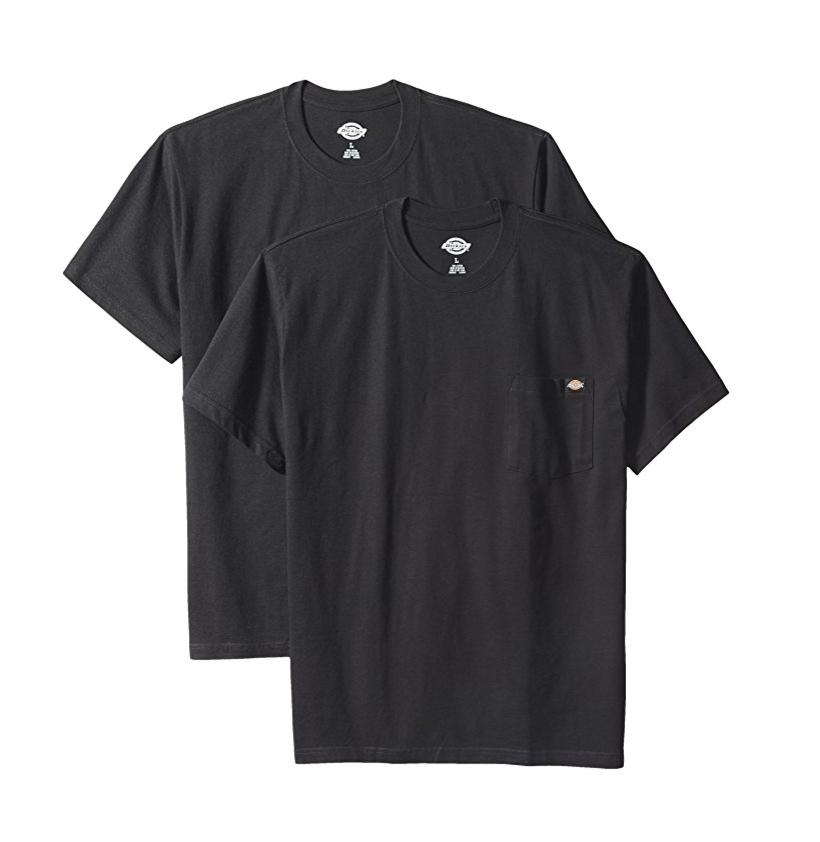 Dickies男式两件短袖口袋T恤,2件装,现点击coupon后仅售