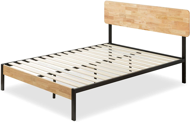 Zinus Olivia Metal and Wood Queen Platform Bed