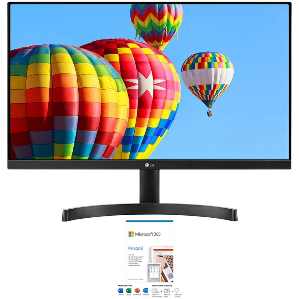 "LG 24"" 1080p IPS LED AMD FreeSync Monitor w/ 1-Year Microsoft 365 Personal"