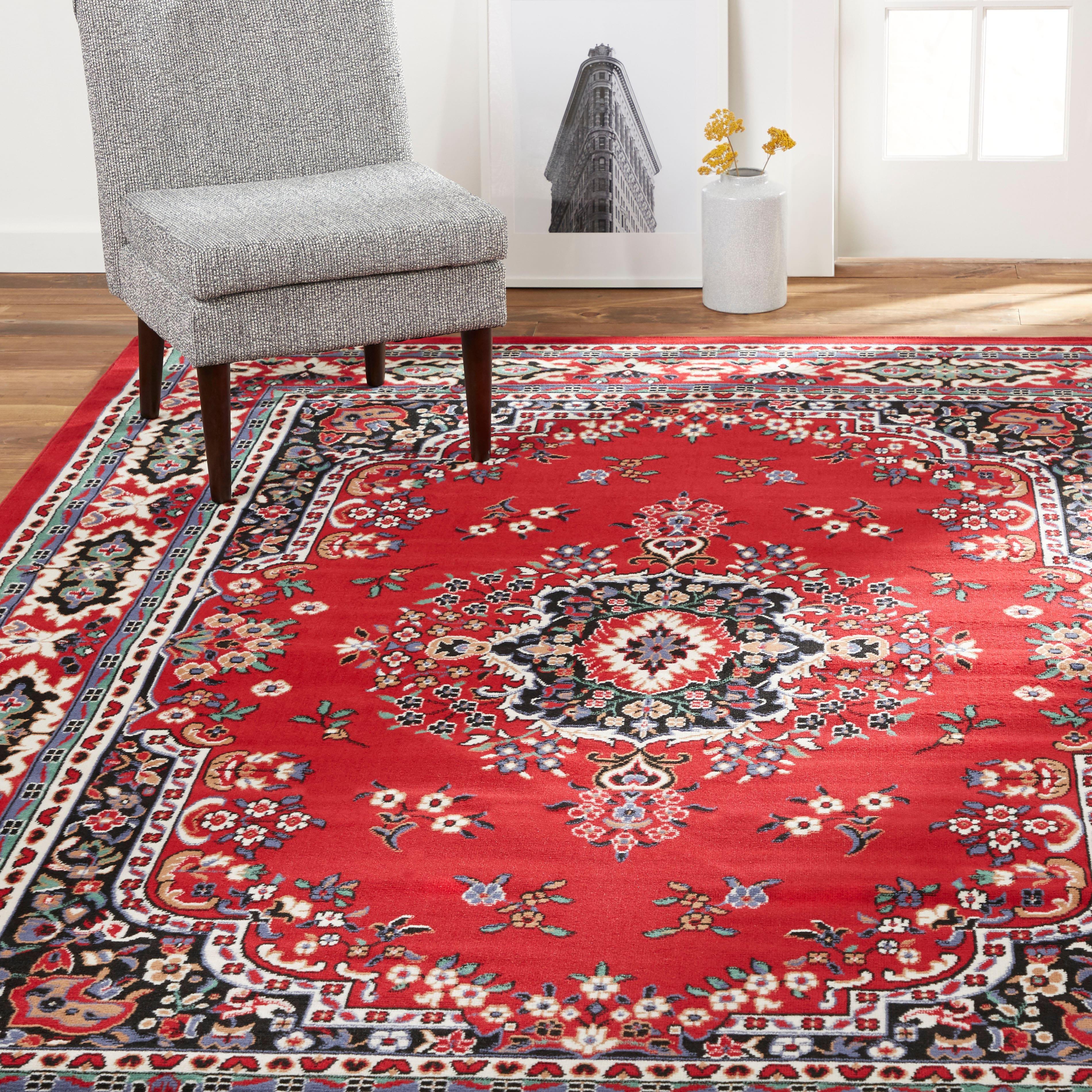 """5'2"""" x 7'4"""" Home Dynamix Premium Sakarya Area Rug (Oriental Red)"""