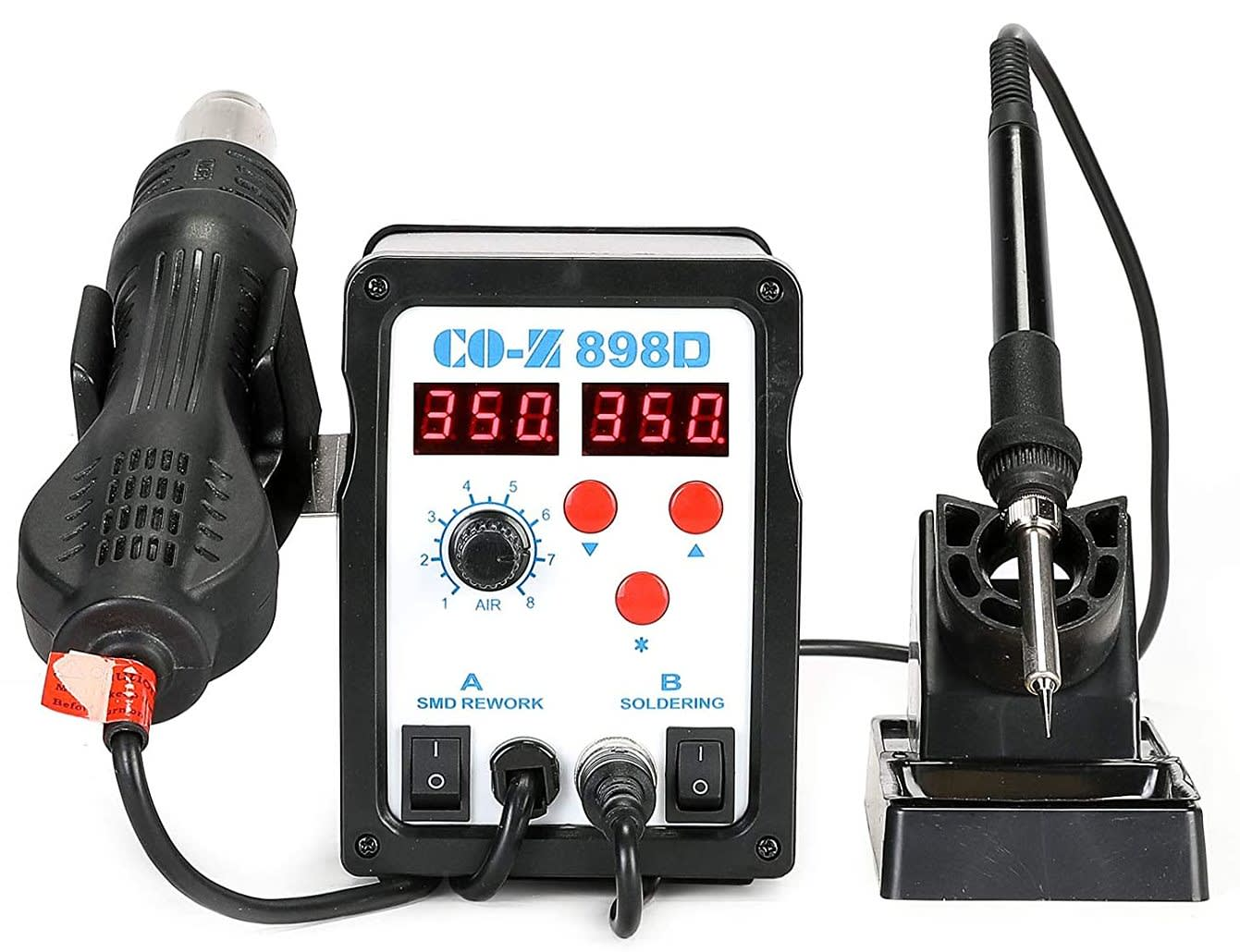 Co-Z 2-in-1 SMD Soldering and Hot Air Rework Station