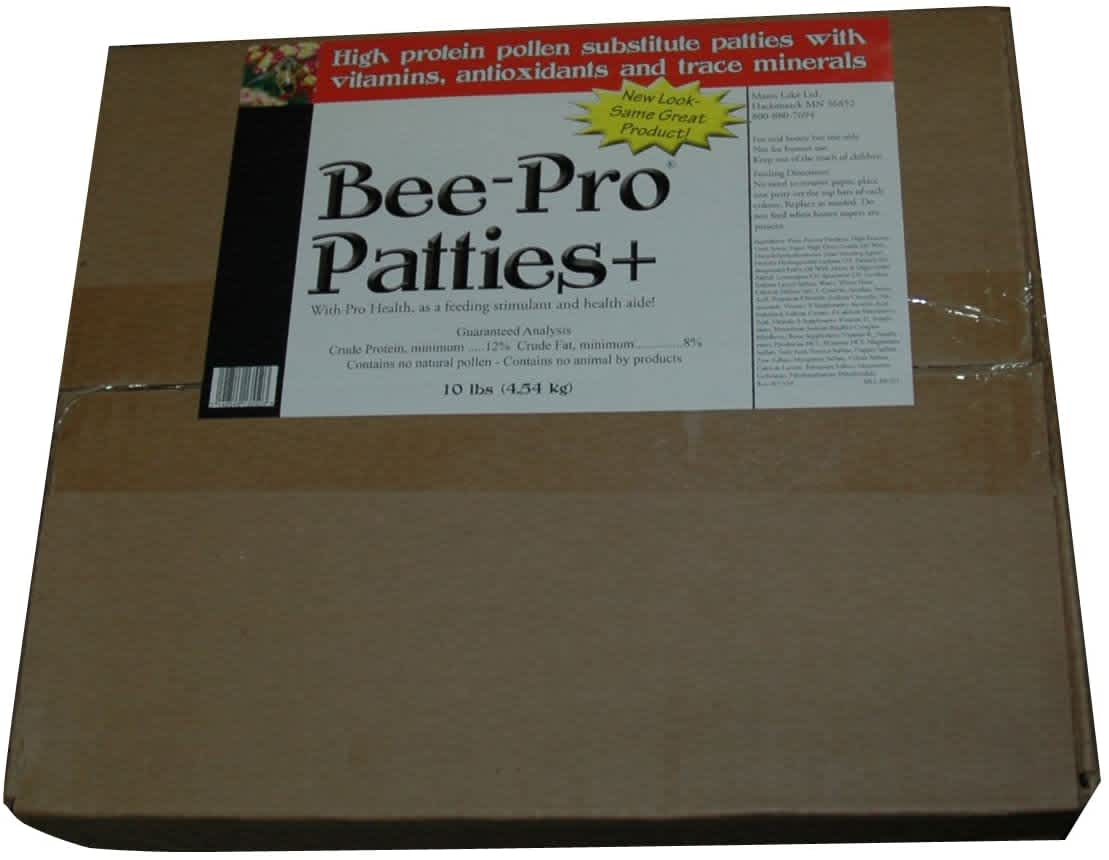 Mann Lake Bee Pro Patties+ 10-lb Box