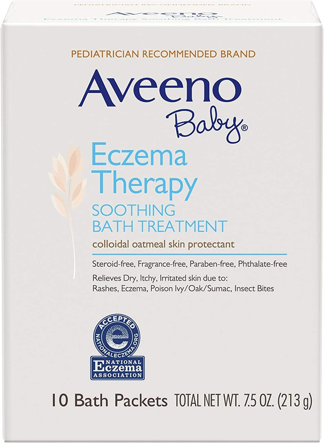 10-Ct Aveeno Baby Eczema Therapy Soothing Bath Treatment w/ Colloidal Oatmeal