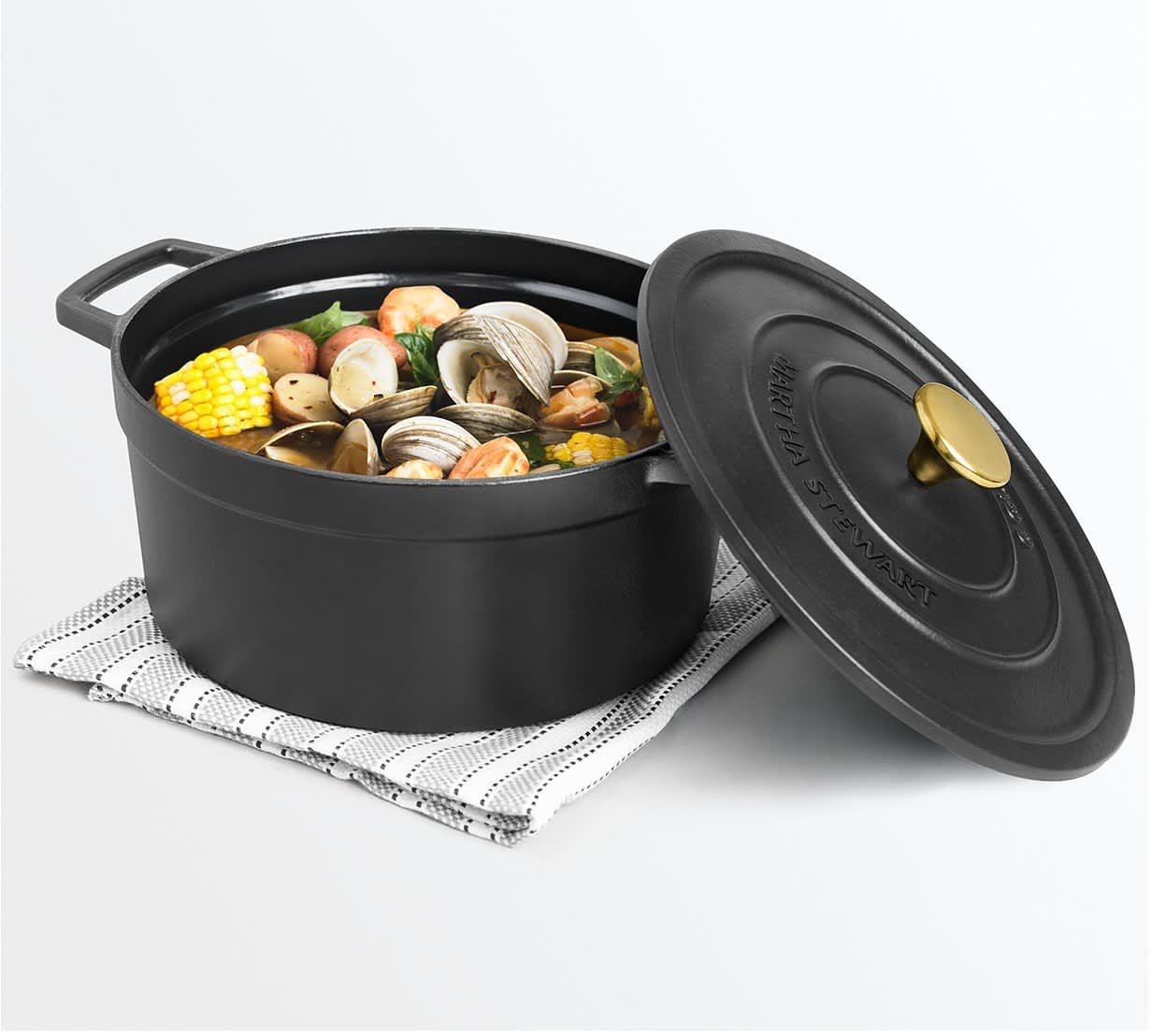 Martha Stewart Collection Enameled Cast Iron Cookware at Macy's