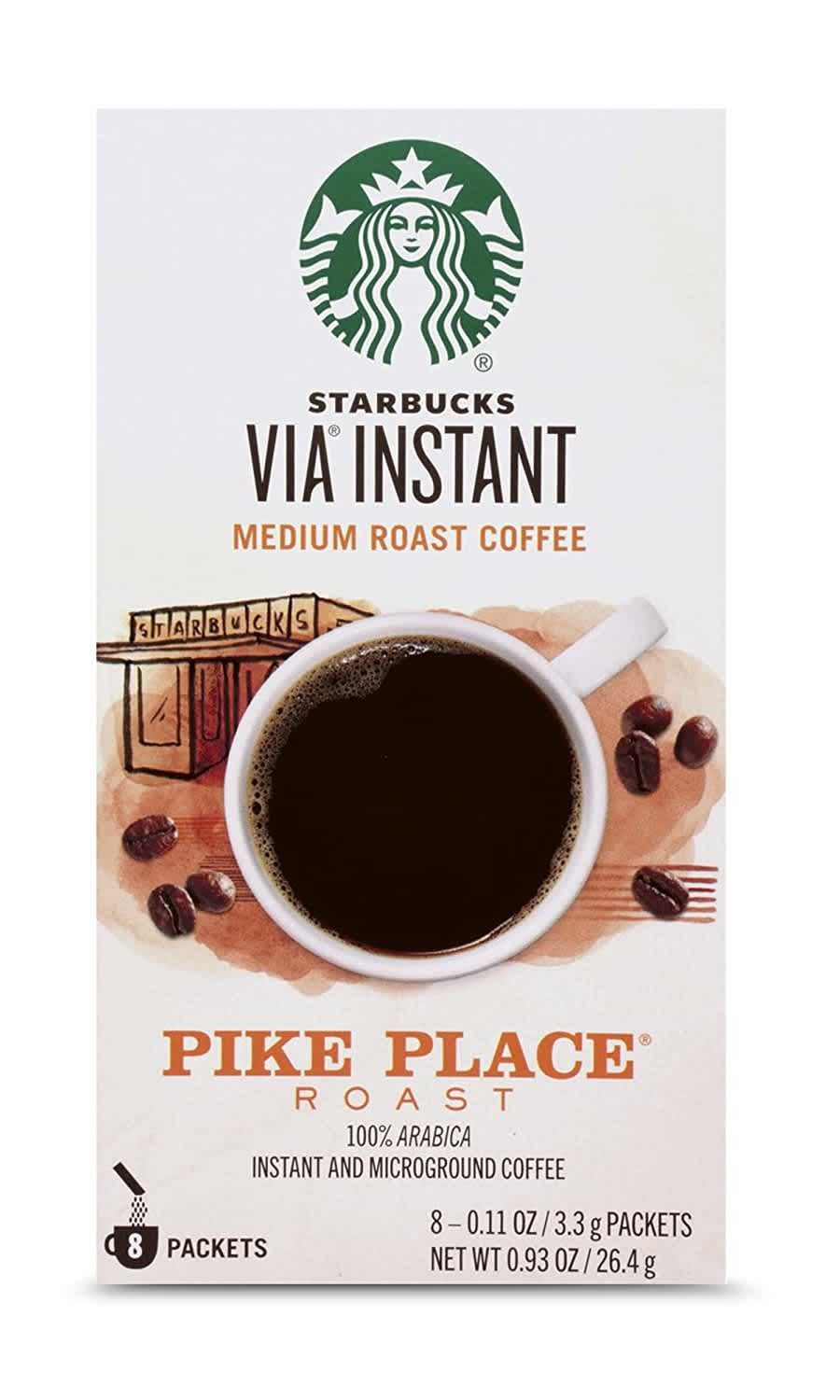 Starbucks VIA Instant Coffee Medium Roast 8-Pack