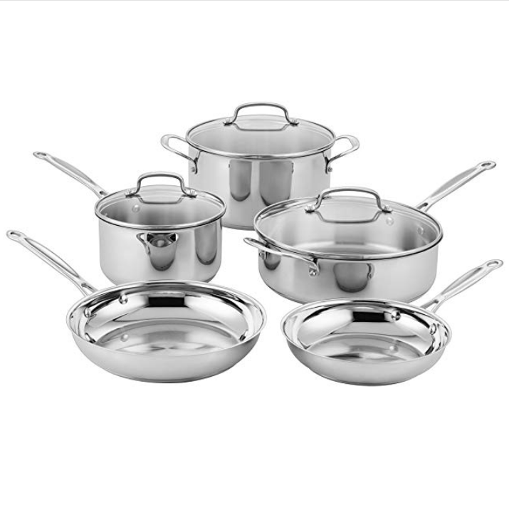 Cuisinart Classic Stainless Steel Cookware Set (8-Piece)