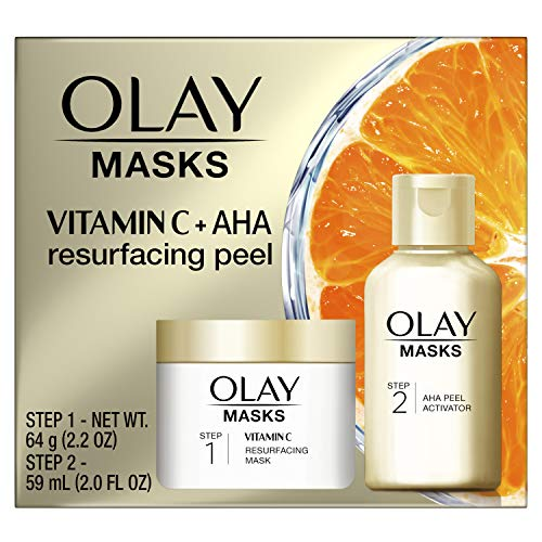 史低价!Olay 维生素C 去角质 面膜 + AHA 焕肤面膜套装,2.2 oz + 2.0 oz