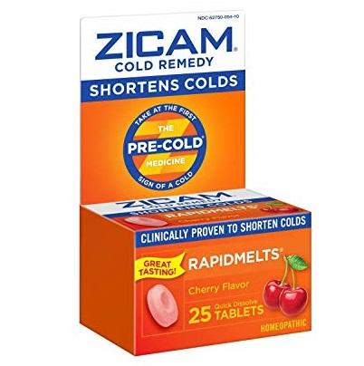 史低价!Zicam 感冒速溶片,莓果味, 25片