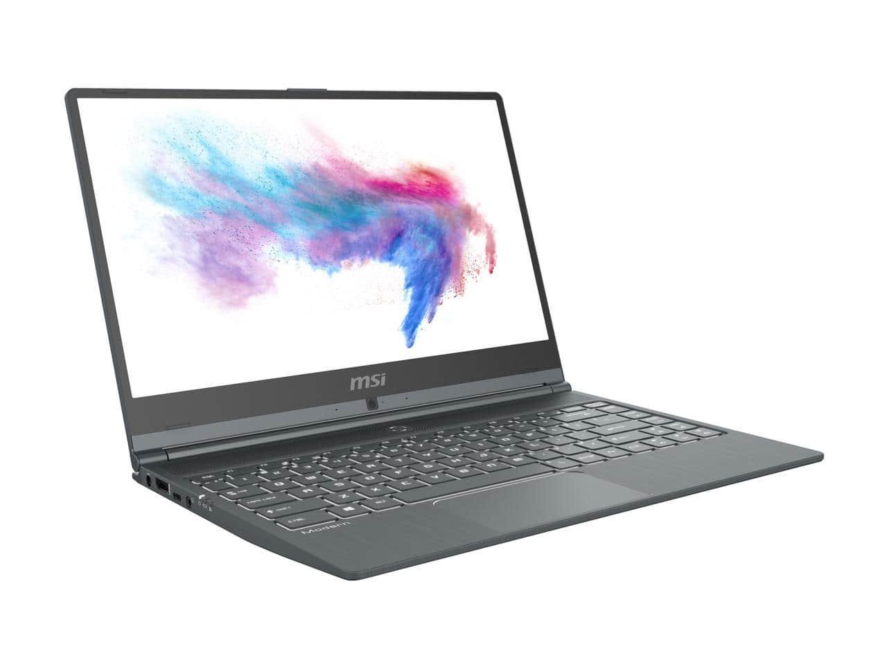 "MSI Modern 14 Laptop: i5-10210U, 14"" IPS, 8GB DDR4, 512GB SSD"