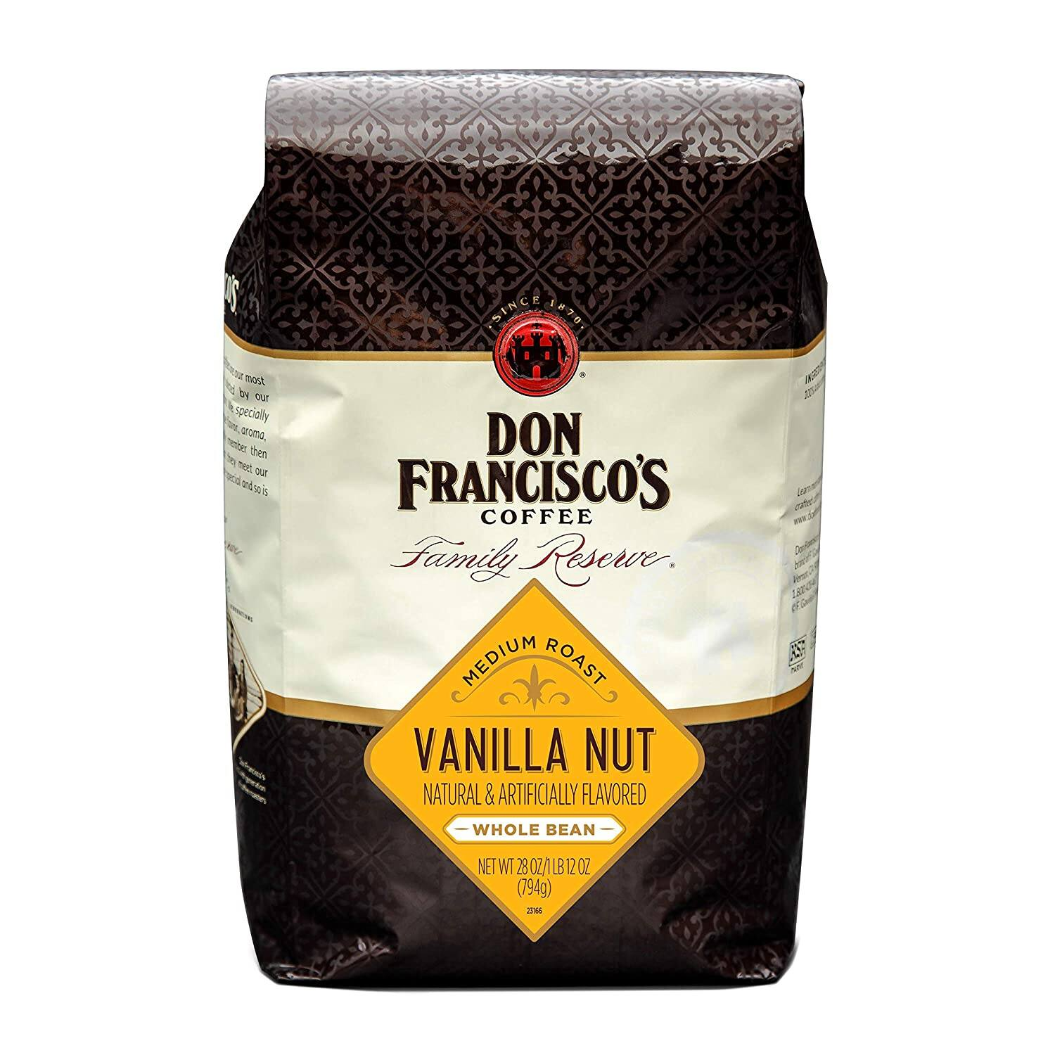 28-Oz Don Francisco's Whole Bean Coffee (Vanilla Nut)