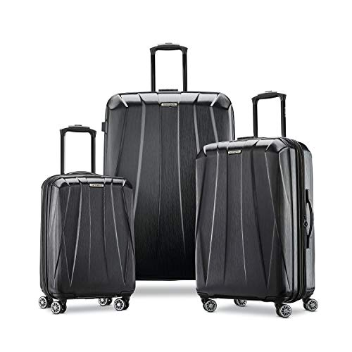 Samsonite Centric 2 Hardside Expandable Luggage with Spinner Wheels, Black, 3-Piece Set (20/24/28)