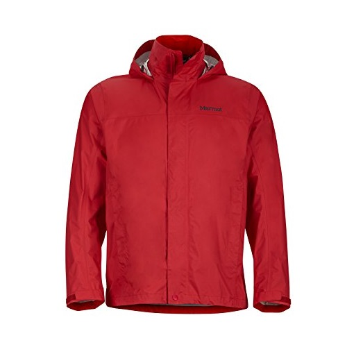 Marmot Men's PreCip Waterproof Rain Jacket, Team Red, Medium