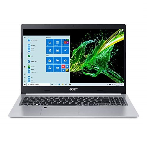 "Acer Aspire 5 A515-55-75NC, 15.6"" Full HD IPS Display, 10th Gen Intel Core i7-1065G7, 8GB DDR4, 512GB NVMe SSD, WiFi 6, HD Webcam, Fingerprint Reader, Backlit Keyboard"
