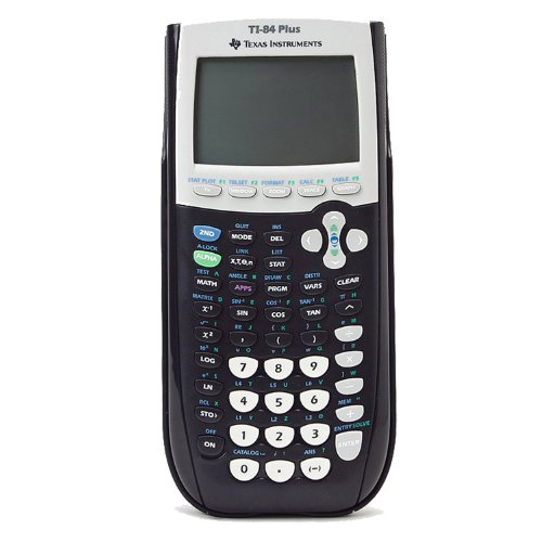 Texas Instruments TI-84 Plus Graphics Calculator, Black, Black