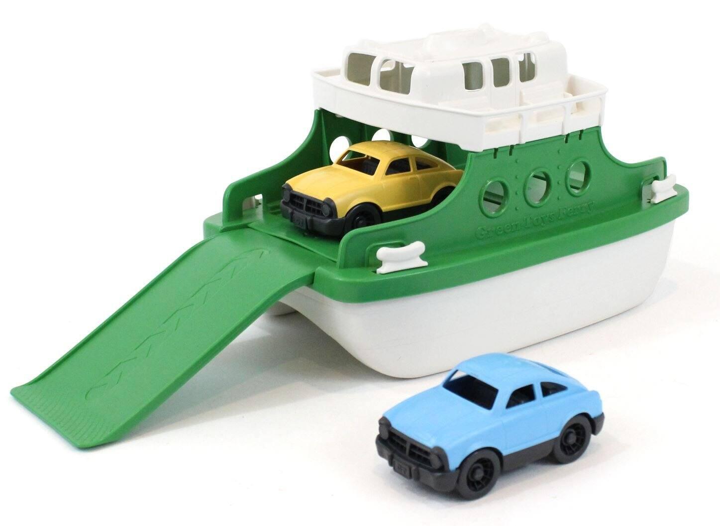 Green Toys Ferry Boat Bathtub Toy w/ Mini Cars