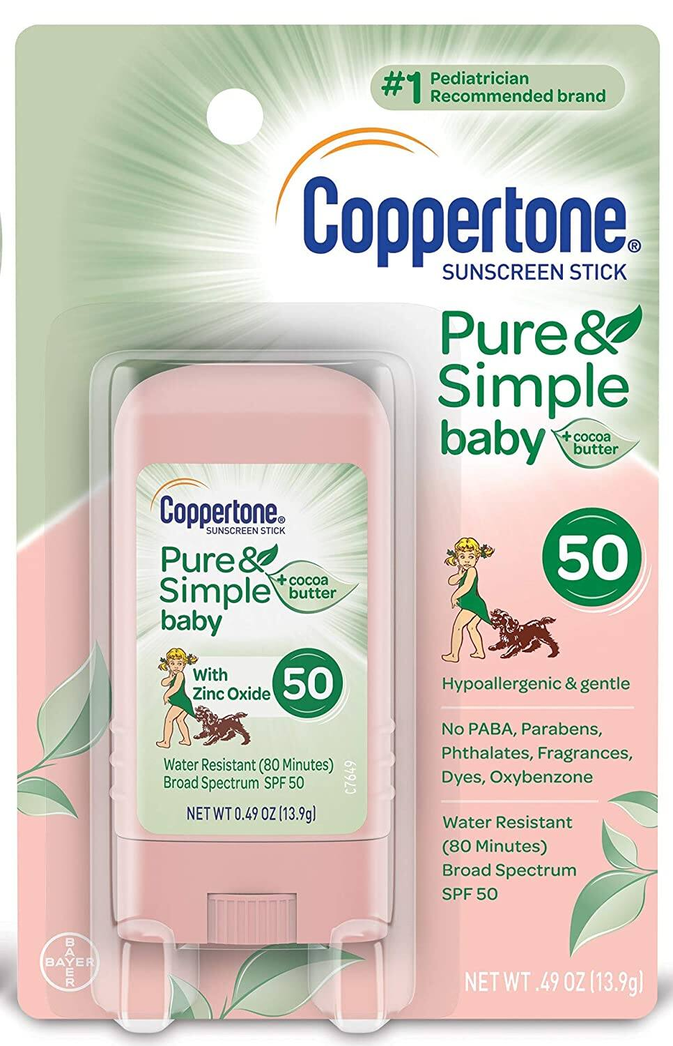 Coppertone Pure & Simple Baby SPF 50 Sunscreen Stick
