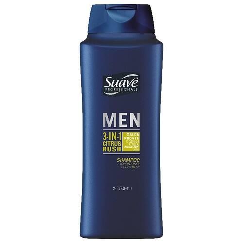 28-Oz Suave Men 3-in-1 Shampoo Conditioner Body Wash (Citrus Rush)