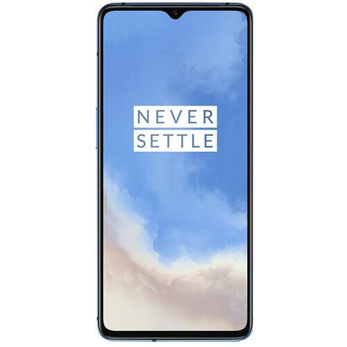 128GB OnePlus 7T GSM Unlocked Smartphone (Glacier Blue or Frosted Silver)