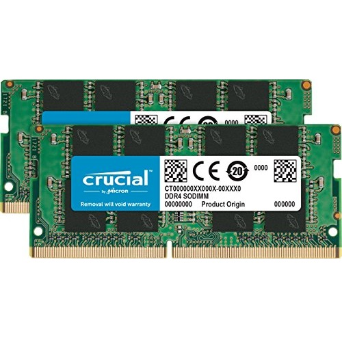 Crucial 16GB Kit (8GBx2) DDR4 2666 MT/s (PC4-21300) SR x8 SODIMM 260-Pin Memory - CT2K8G4SFS8266