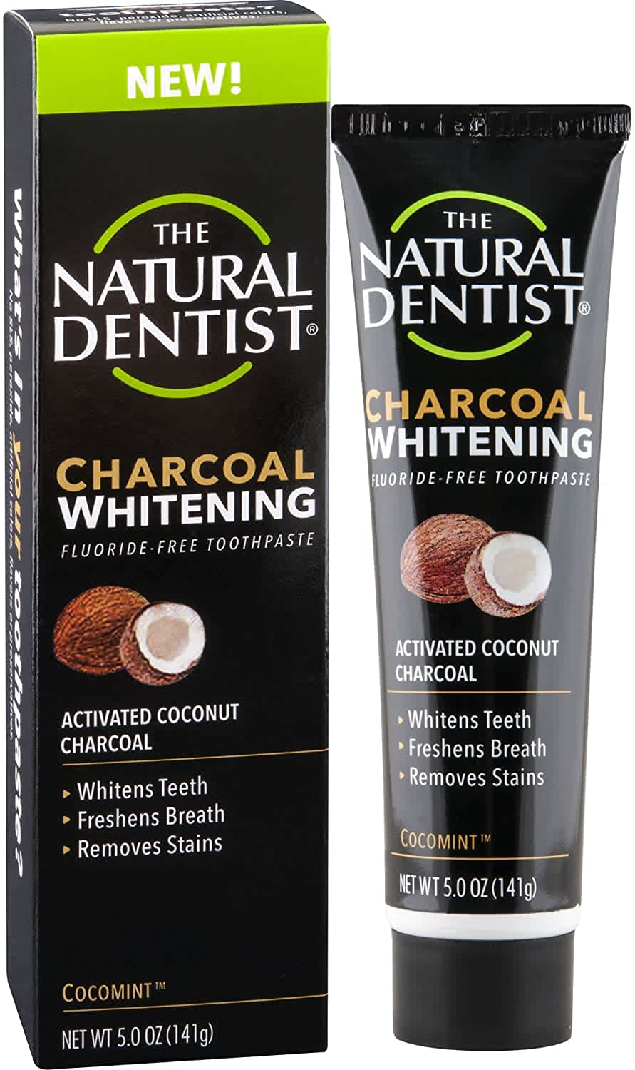 The Natural Dentist 5-oz. Charcoal Whitening Toothpaste