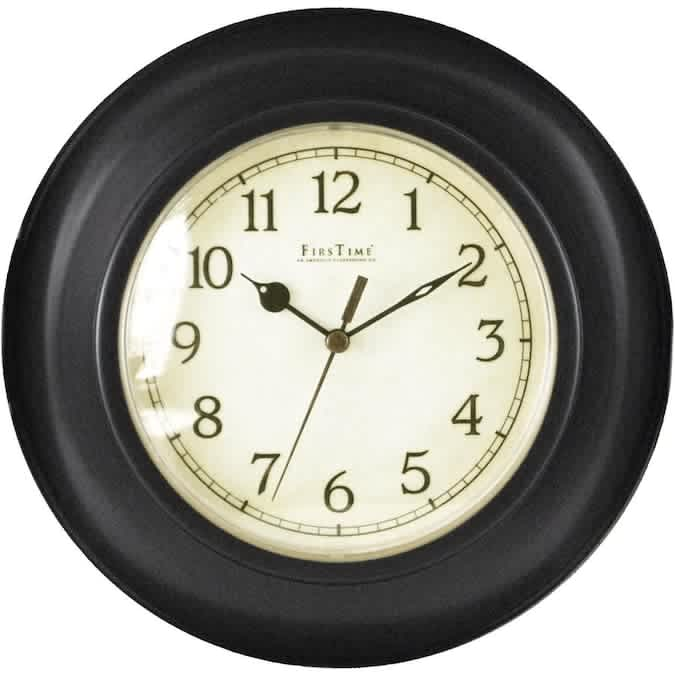 FirsTime Bronze Plastic Wall Clock