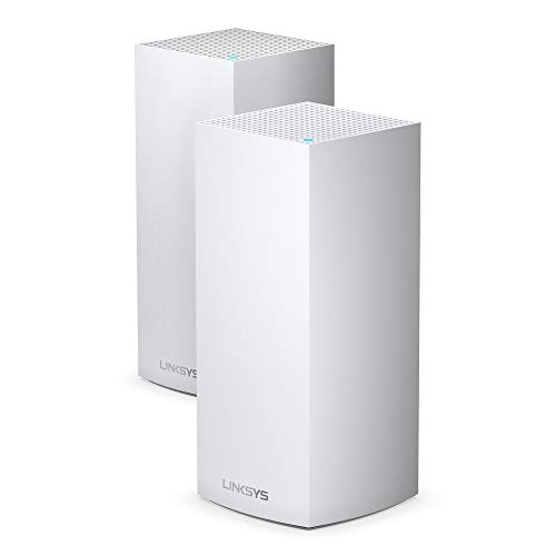 Linksys MX10600 Velop Wi-Fi 6 Mesh Router (Wi-Fi 6 Mesh Wi-Fi System for Whole-Home Wi-Fi Mesh Network) MX10 Velop AX (2-Pack, White)