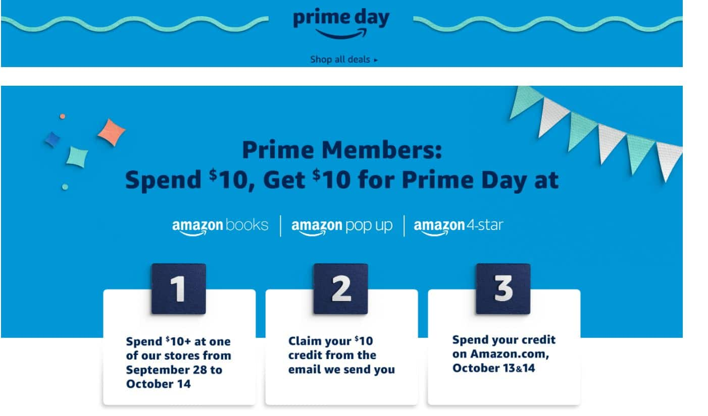 Prime Members: Spend $10 at Amazon Books, Pop Up or 4-Star Stores & Get