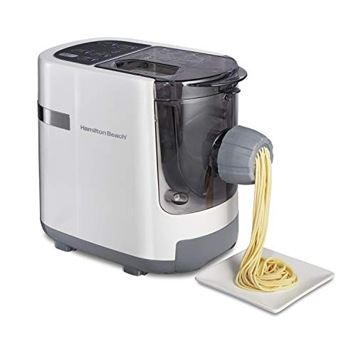 Hamilton Beach Electric Pasta and Noodle Maker, Automatic, 7 Different Shapes, White (86650)