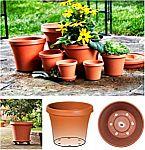 """Bloem Terra Plastic Pot Planter 8"""" Terra Cotta"""