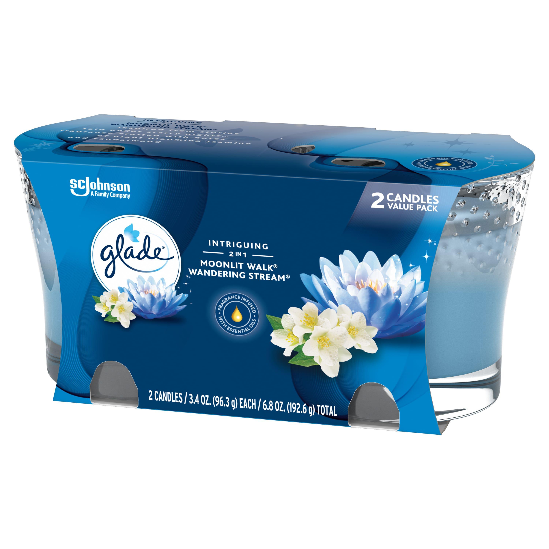 2-Ct Glade 2 in1 Jar Candle Air Freshener (Moonlit Walk & Wandering Stream)