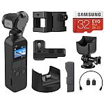 DJI Osmo Pocket 3-Axis Gimbal Stabilized Camera + DJI Expansion Kit