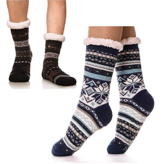 Super Soft Warm Cozy Sherpa-lined Cabin Socks