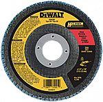 "DEWALT DW8309 4-1/2"" x 7/8"" 80 Grit Zirconia Angle Grinder Flap Disc"