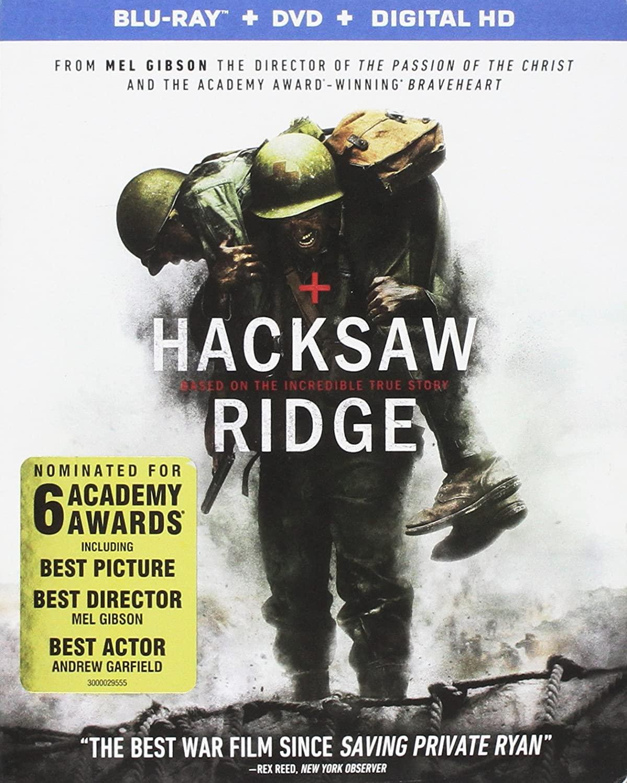 Blu-rays: Hacksaw Ridge, Sicario, The Patriot, American Assassin