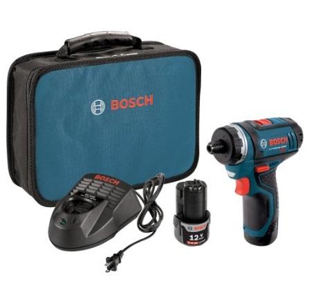史低价!Bosch博世PS21-2A 12V 紧凑型电钻,带2块电池