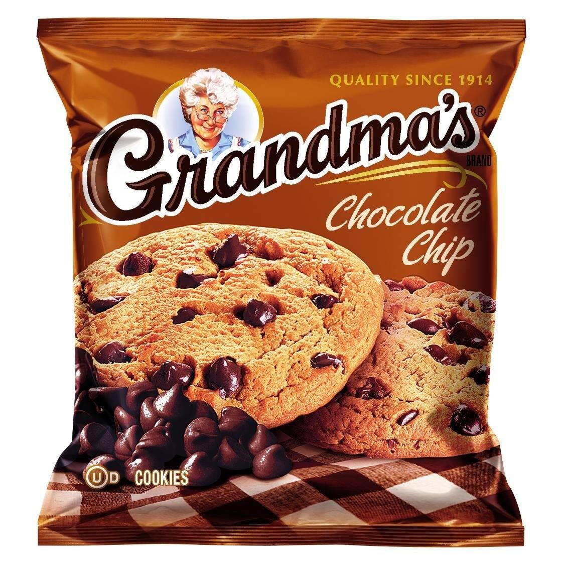 Prime Members: 60-Pack 2.5oz Grandma's Cookies (Chocolate Chip or Peanut Butter)