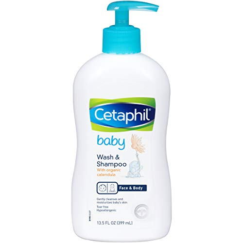 Cetaphil丝塔芙 金盏花宝宝沐浴露+洗发水二合一,13.5 oz,现点击coupon后仅售